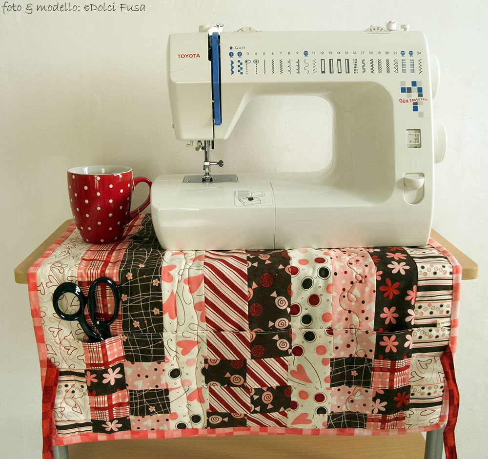 Sewing Machine Cover & Mat double-faced