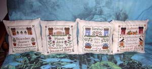 LHN 3 seasonal pillows front