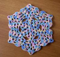 Pastel doily Wool Multicolour